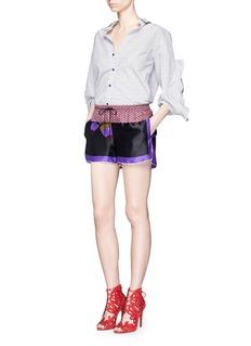 IBRIGUOne of a kind print drawstring silk shorts