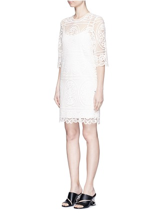 Front View - Click To Enlarge - Mo&Co. - Geometric floral lace dress