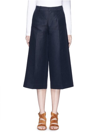 Main View - Click To Enlarge - Mo&Co. - Cotton-linen culottes