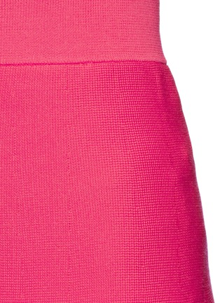 Detail View - Click To Enlarge - Mo&Co. - Cotton blend knit A-line skirt