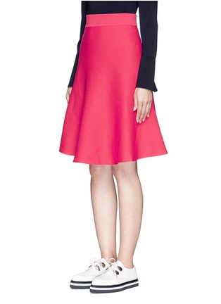 Front View - Click To Enlarge - Mo&Co. - Cotton blend knit A-line skirt
