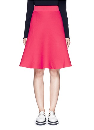 Main View - Click To Enlarge - Mo&Co. - Cotton blend knit A-line skirt
