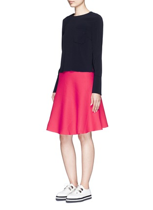 Figure View - Click To Enlarge - Mo&Co. - Cotton blend knit A-line skirt