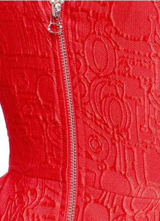 Detail View - Click To Enlarge - Mo&Co. - Mickey Mouse jacquard sleeveless dress