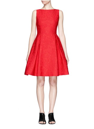 Main View - Click To Enlarge - Mo&Co. - Mickey Mouse jacquard sleeveless dress