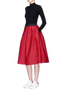 MO&Co.Mickey Mouse jacquard flare midi skirt