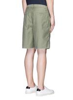 Raw cuff cotton Bermuda shorts