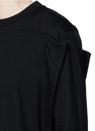 细节 - 点击放大 - HOOD BY AIR - 布块拼贴双层纯棉卫衣