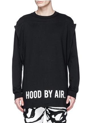首图 - 点击放大 - HOOD BY AIR - 布块拼贴双层纯棉卫衣