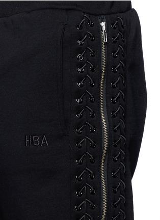 细节 - 点击放大 - HOOD BY AIR - 系带拉链装饰纯棉短裤