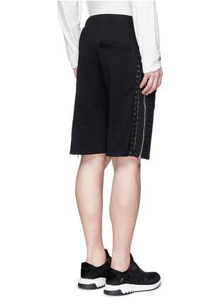 背面 - 点击放大 - HOOD BY AIR - 系带拉链装饰纯棉短裤