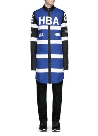 首图 - 点击放大 - HOOD BY AIR - 品牌标志拼色长款纯棉衬衫