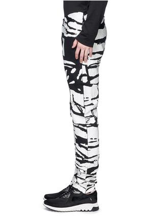 细节 - 点击放大 - HOOD BY AIR - 斑马纹涂层纯棉牛仔裤