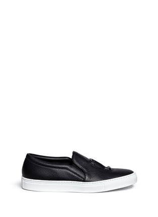 Main View - Click To Enlarge - Joshua Sanders - '23' embossed leather skate slip-ons