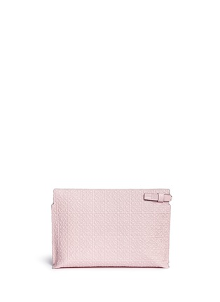 Back View - Click To Enlarge - Loewe - 'T Pouch' engraved anagram leather clutch