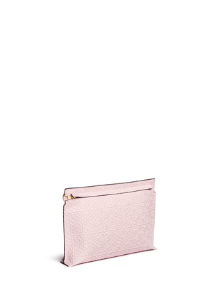 Front View - Click To Enlarge - Loewe - 'T Pouch' engraved anagram leather clutch