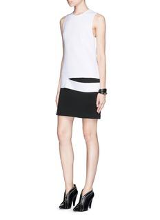 PROENZA SCHOULERSlash waist neoprene jersey layer dress