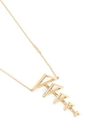 Figure View - Click To Enlarge - Phyne By Paige Novick - 'Sophia' 18k gold diamond pavé graduating triangle necklace