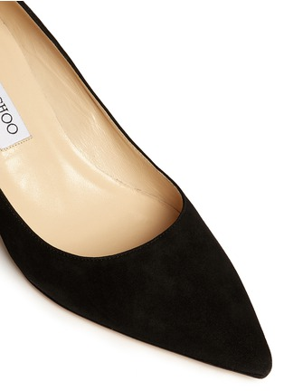 Detail View - Click To Enlarge - Jimmy Choo - 'Aza' kitten suede heel pumps