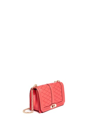 Front View - Click To Enlarge - Rebecca Minkoff - 'Love' quilted leather crossbody bag