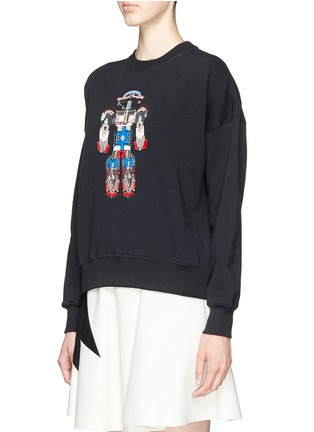 Front View - Click To Enlarge - MSGM - Robot bead embroidery sweatshirt