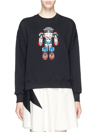 Main View - Click To Enlarge - MSGM - Robot bead embroidery sweatshirt