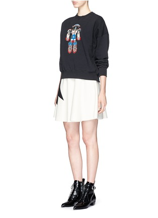 Figure View - Click To Enlarge - MSGM - Robot bead embroidery sweatshirt