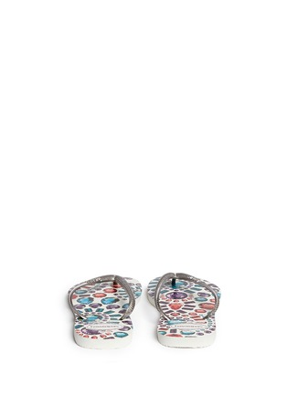 Back View - Click To Enlarge - HAVAIANAS - 'Slim Pedras' jewel print flip flops