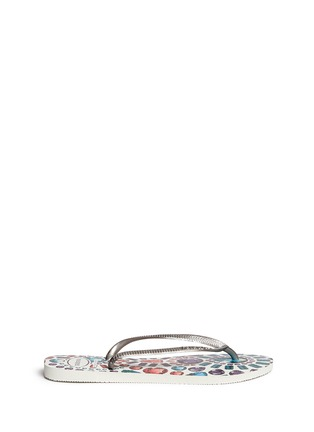 Main View - Click To Enlarge - HAVAIANAS - 'Slim Pedras' jewel print flip flops