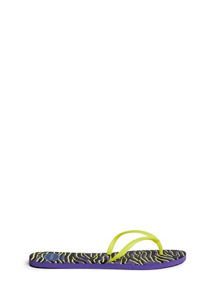 Main View - Click To Enlarge - HAVAIANAS - 'Flat Style' tiger print flip flops