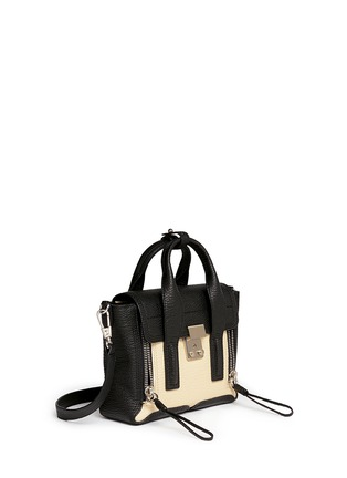 Front View - Click To Enlarge - 3.1 Phillip Lim - 'Pashli' mini colourblock leather satchel