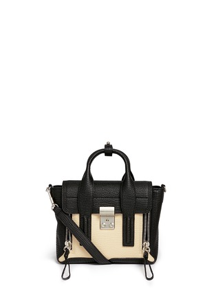 Main View - Click To Enlarge - 3.1 Phillip Lim - 'Pashli' mini colourblock leather satchel