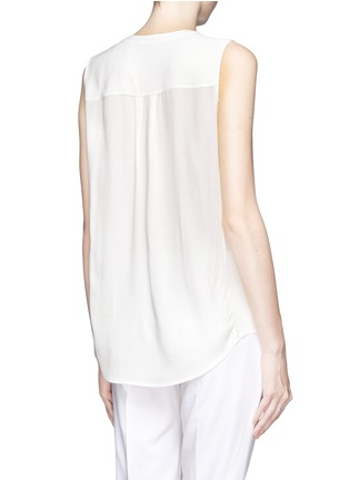 Back View - Click To Enlarge - Vince - Silk crepe sleeveless blouse