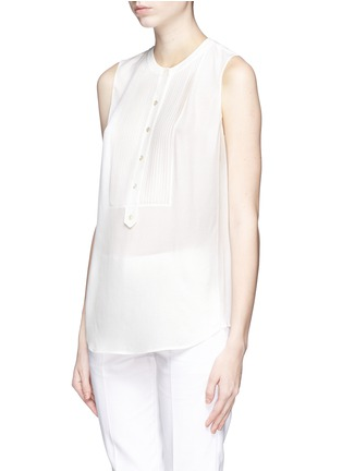 Front View - Click To Enlarge - Vince - Silk crepe sleeveless blouse