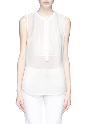Main View - Click To Enlarge - Vince - Silk crepe sleeveless blouse