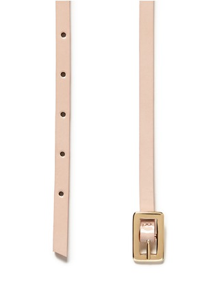 Detail View - Click To Enlarge - Maison Boinet - Round stud leather skinny belt