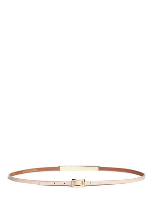 Back View - Click To Enlarge - Maison Boinet - Round stud leather skinny belt