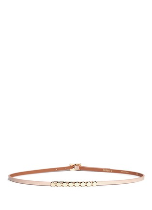 Main View - Click To Enlarge - Maison Boinet - Round stud leather skinny belt