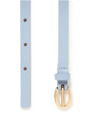 Detail View - Click To Enlarge - Maison Boinet - Bow leather skinny belt