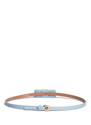 Back View - Click To Enlarge - Maison Boinet - Bow leather skinny belt