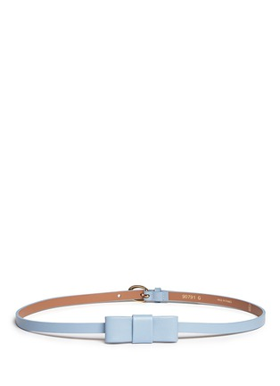 Main View - Click To Enlarge - Maison Boinet - Bow leather skinny belt