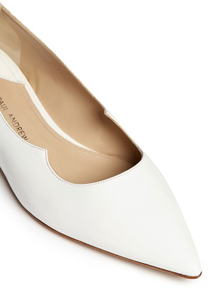 Detail View - Click To Enlarge - Paul Andrew - 'Zoya' wavy leather flats