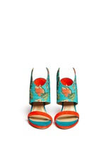 'Nya' floral print wing vamp mule sandals