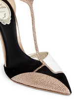 Karung leather strass T-strap pumps