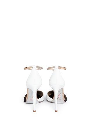 背面 - 点击放大 - RENÉ CAOVILLA - Karung leather strass T-strap pumps