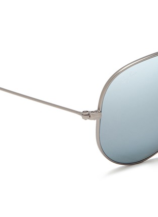 细节 - 点击放大 - RAY-BAN - 'Aviator Large Metal' mirror sunglasses