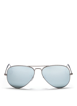 首图 - 点击放大 - RAY-BAN - 'Aviator Large Metal' mirror sunglasses