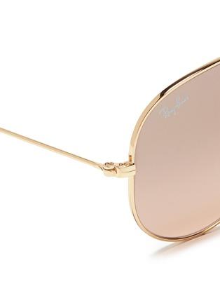 细节 - 点击放大 - RAY-BAN - 'Aviator Large Metal' mirror sunglasses