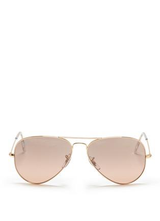 首图 - 点击放大 - RAY-BAN - 'Aviator Large Metal' mirror sunglasses