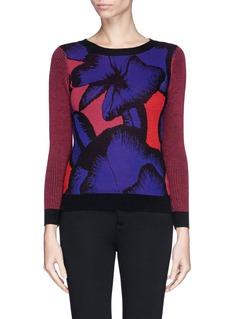 DIANE VON FURSTENBERG'April' poppy leopard print wool sweater